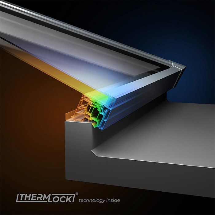 Thermlock Sheerline Aluminium roof system available from Bedford Bi-folds Ltd