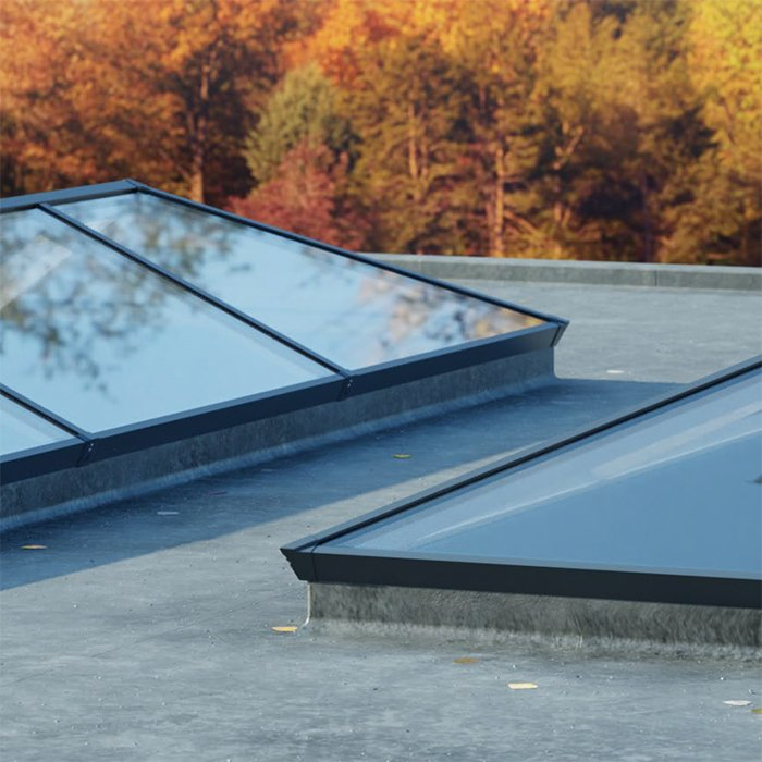 Exterior security Sheerline Aluminium roof system available from Bedford Bi-folds Ltd