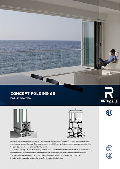 Concept Folding 68 from Reynaers available at Bedford Bi-Folds Ltd